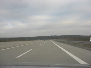 wide open spaces on the Autobahn
