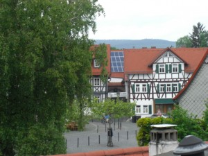 View onto part of the Oberursel Marktplatz