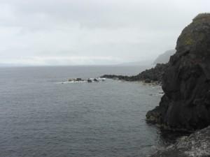 Steep cliffs, clean water
