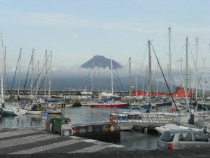 Horta marina with a better view on Pico.