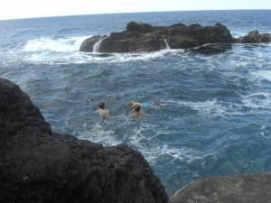 A beautiful natural rock swimming pool at Varadouro