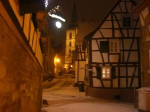 Oberursel with St. Ursula Church (Wall on the left belongs to Zum Schwanen