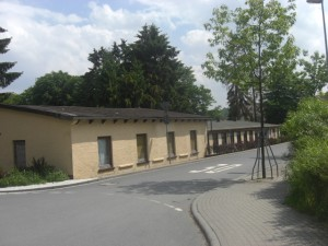 Former Gestapo building bordering Camp King