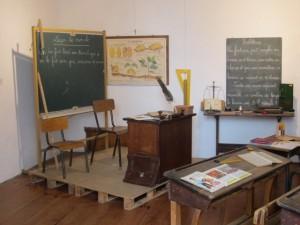 Old classroom in La Bastide Clairance