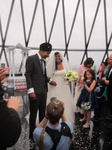 Wedding at the Gherkin