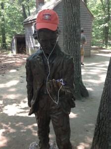 Thoreau sculpture