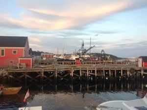 Evening sunlight in Lunenburg