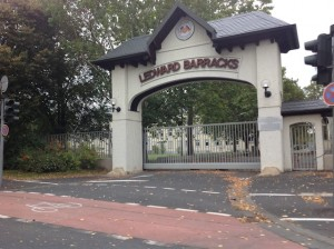 Ledward Barracks front gate