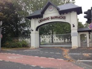 Ledward Barracks front gate