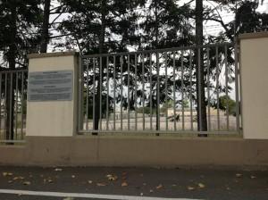 backgate fence Ledward Barracks
