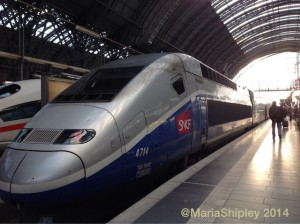 TGV leaving Frankfurt
