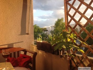 balcony in the evening light