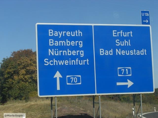 A70 to Schweinfurt