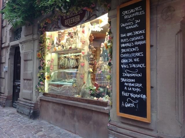 Grocer's shop window, Riquewihr