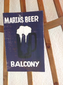 Beer Balcony sign from Bali