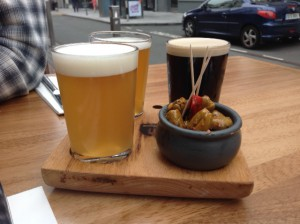 Beer tasting tray at the Elbow Lane in Cork