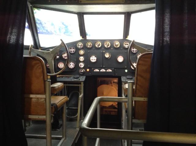 Flying boat Yankee Clipper cockpit