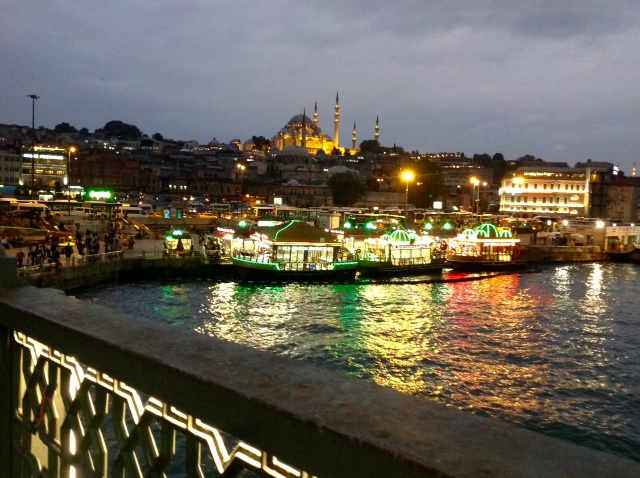 Galata Bridge and restaurants