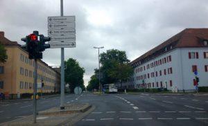 Intersection Ledward Barracks Schweinfurt